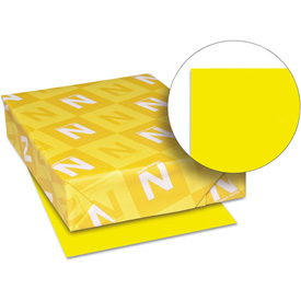 """Colored Paper Neenah 22531 Solar Yellow 8-1/2"""" x 11"""" 24 lb. 500 Sheets by"""