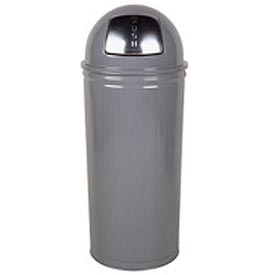 "Tall Trash Container For Use W/Dome Tops, Gray, 80 Quart, 16""Dia X 29""H - Pkg Qty 3"