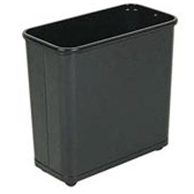 "Rectangular Wastebasket, Black, 30 Quart, 17""W X 15""H X 8""D - Pkg Qty 3"