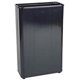 "Tall Rectangular Trash Container, Black,96 Quart, 21""W X 30""H X 11""D - Pkg Qty 3"