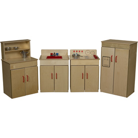 Wood Designs™ Set of Four Classic Appliances with Deluxe Hutch