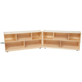 School Furniture Preschool Cubbies Folding Storage 24