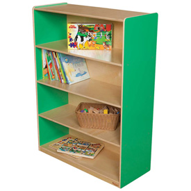 "Wood Designs™ Green Apple Bookshelf, 48""H"