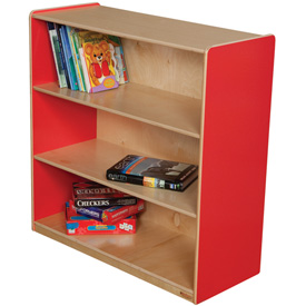"Wood Designs™ Strawberry Red Bookshelf, 36""H"