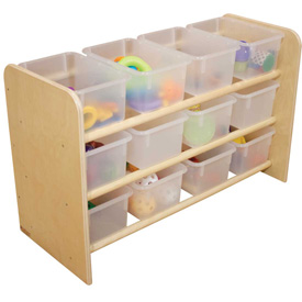 See-All Storage with Twelve Clear Trays
