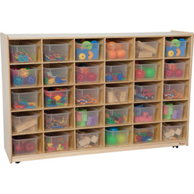 30 Tray Storage with Clear Trays
