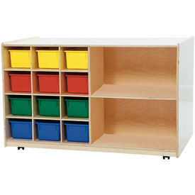 Double Mobile Storage with Twelve Assorted Trays