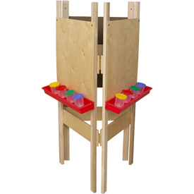 Wood Designs™ Three-Way Adjustable Easel with Plywood