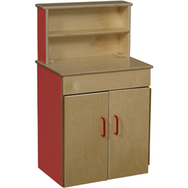 Wood Designs™ Strawberry Red Classic Deluxe Hutch
