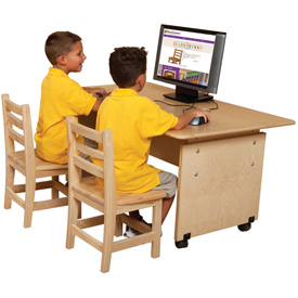 Wood Designs™ Adjustable Height Computer Table