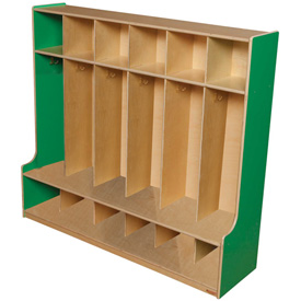 Green Apple Six Section Seat Locker