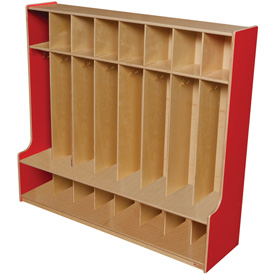 Strawberry Red Eight Section Seat Locker