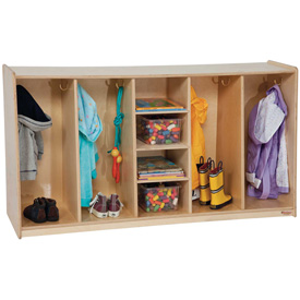 "Tip-Me-Not 30""H, Four Section Locker"