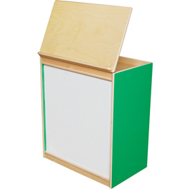 Wood Designs™ Green Apple Big Book Display with Magnetic Markerboard