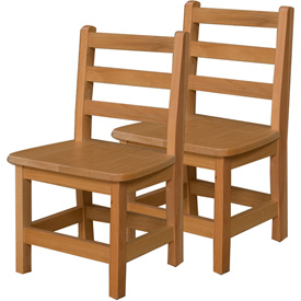 "Wood Designs™ 12"" Seat Height Hardwood Chair, Carton of Two"