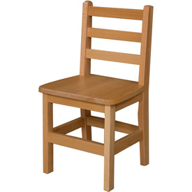 """Wood Designs™ 14"""" Seat Height Hardwood Chair, Packed One Per Carton"""
