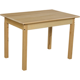 "Wood Designs™ 24"" x 36"" Rectangle Table with 24"" Legs"