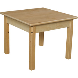 "Wood Designs™ 24"" Square Table with 20"" Legs"