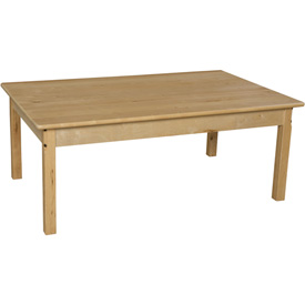 "Wood Designs™ 30"" x 48"" Rectangle Table with 24"" Legs"
