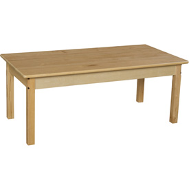 "Wood Designs™ 24"" x 48"" Rectangle Table with 18"" Legs"