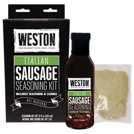 Click here to buy Italian Sausage Liquid Seasoning Kit (makes 8 lbs).