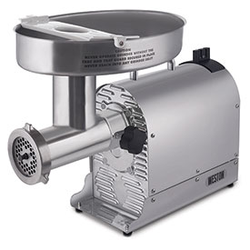 Weston Pro Series 10-2201-W #22 Meat Grinder 1 1/2 HP by