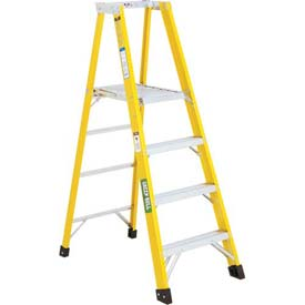 Green Bull Series 2072 Fiberglass Platform Ladder - 10' 207210