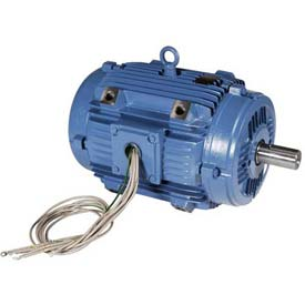 WEG Pad Mount Motor, 00158EP3EPM143/5Y, 1.5 HP, 1800 RPM, 230/460 Volts, 3 Phase, TEAO