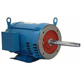 WEG Close-Coupled Pump Motor-Type JP, 00318OP3E182JP, 3 HP, 1800 RPM, 230/460 V, ODP, 3 PH