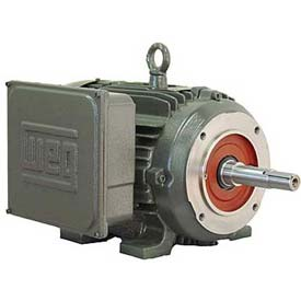 WEG Close-Coupled Pump Motor-Type JM, 00518ES1E184JM, 5 HP, 1800 RPM, 208-230/460 V, TEFC, 1 PH