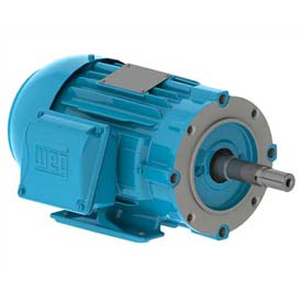 WEG Close-Coupled Pump Motor-Type JM, 00518ET3H184JM-W22, 5 HP, 1800 RPM, 575 V, TEFC, 3 PH