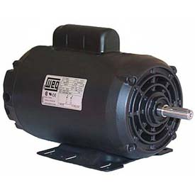 WEG Compressor Duty Motor, 00536OS1CCDG56, 5 HP, 3600 RPM, 208-230 Volts, ODP, 1 PH