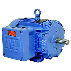 WEG Explosion Proof Motor, 00536XT3E184T, 5 HP, 3600 RPM, 208-230/460 Volts, TEFC, 3 PH