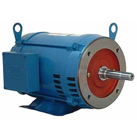WEG Close-Coupled Pump Motor-Type JM, 00736OP3E184JM, 7.5 HP, 3600 RPM, 230/460 V, ODP, 3 PH