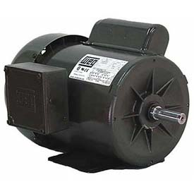WEG Fractional Single Phase Motor, .7518ES1BB56C, 0.75HP, 1800RPM, 115/208-230V, B56, TEFC
