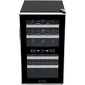 Whynter WC-181DS Wine Cooler, Thermoelectric, Dual Zone, Holds 18 Bottles by