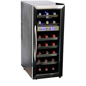 Whynter WC-211DZ Wine Cooler Dual Temperature Zone, Holds 21 Bottles by