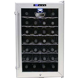 Whynter SNO WC-28S Wine Cooler Platinum With Lock, Holds 28 Bottles by