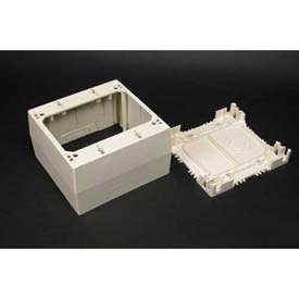 "Wiremold 2344-Wh 1-Gang Extra Deep Device Box, White, 4-3/4""L - Pkg Qty 5"