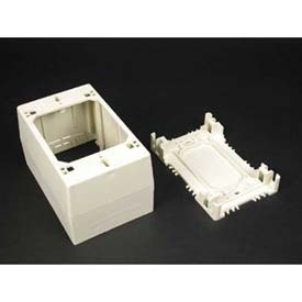 "Wiremold 2344 1-Gang Extra Deep Device Box, Ivory, 4-3/4""L - Pkg Qty 5"