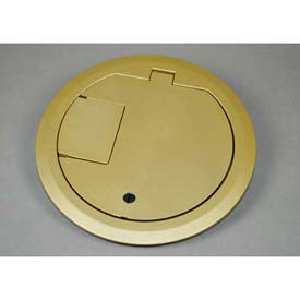 Wiremold CRFBCTCBSTR Floor Box CRFB Series Cover Assembly Tamper Resistant, Brass