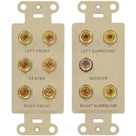 Buy Legrand F9004-LA 5.1 Home Theater Outlet Straps, Light Almond Package Count 6