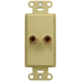 Click here to buy Legrand F9006-IV Home Theater Single Speaker Connection Kit, Ivory Package Count 6.