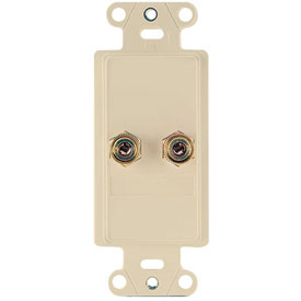 Click here to buy Legrand F9006-LA Home Theater Single Speaker Connection Kit, Light Almond (M6) Package Count 6.