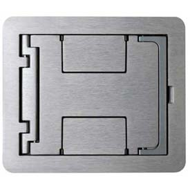Wiremold Fpbtcal Floor Box Floorport Flanged Cover W/Solid Cover Brushed Aluminum - Pkg Qty 8