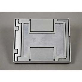 Wiremold Fpctgy Floor Box Floorport Flangeless Cover Assembly, W/Carpet Insert, Gray - Pkg Qty 8