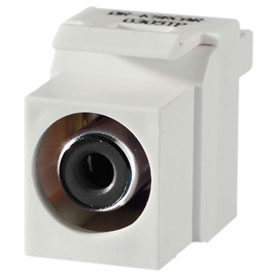 Click here to buy Legrand KSRCABW Keystone RCA to RCA Inserts (Black Insulator), White Package Count 10.