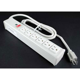 """Wiremold R612 Multi-Outlet Power Unit, 125V, 15A, 12-1/4""""L, 6 Outlets, 15' Cord by"""