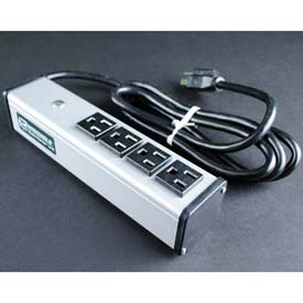 """Wiremold UL101BD Multi-Outlet Power Unit, 125V, 15A, 9-1/4""""L, 4 Outlets, 15' Cord by"""