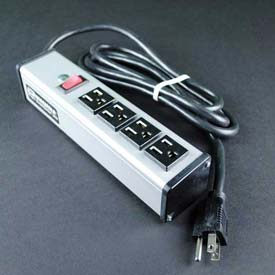 """Wiremold UL104BC Multi-Outlet Power Unit, 125V, 15A, 9-1/4""""L, 4 Outlets, 6' Cord by"""